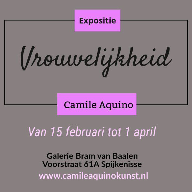 Expositie 'Vrouwelijkheid' – 15 februari t/m 1 april